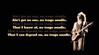 Santana - No One to Depend On (lyrics)