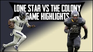Frisco Lone Star vs The Colony - 2019 Week 8 Football Highlights