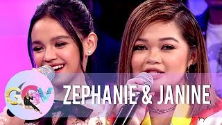 Zephanie and Janine reminisce their 'Tawag Ng Tanghalan' days  | GGV