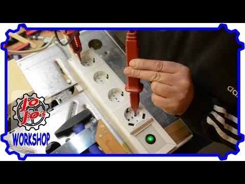 Super Steckdosenleiste mit USB-Ladefunktion aus Laminatresten