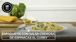 DESAFIAMOS los clásicos ITALIANOS con estos ESPAGUETIS con salsa de ESPINACAS al CURRY