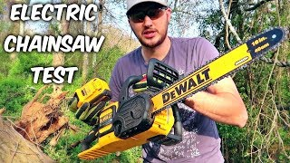 Testing Electric Chainsaw - Part 2