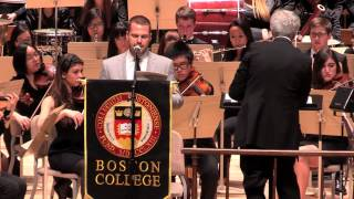 Lecture aux 150 ans du Boston College (2013)