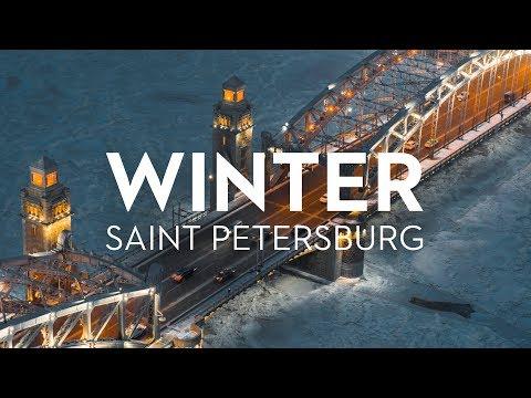 Winter Saint Petersburg Russia 6K. Shot on Zenmuse X7 Drone// Зимний Петербург, аэросъёмка