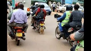 Motorbike operators, boda bodas, banned from  the Nairobi CBD