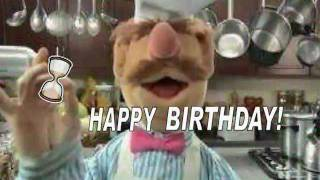 YouTube e-card The muppet shows swedish chef dancing in the kitchen to wish you a happy birthday