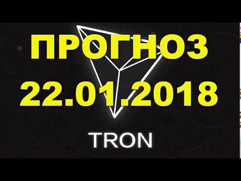 TRX/USD — TRON прогноз цены / график цены на 22.01.2018 / 22 января 2018 года