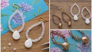 DIY Make These Bead Hoop Earrings