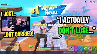 I died and spectated the biggest TRYHARD in Fortnite random duos... (HE CARRIED ME!)
