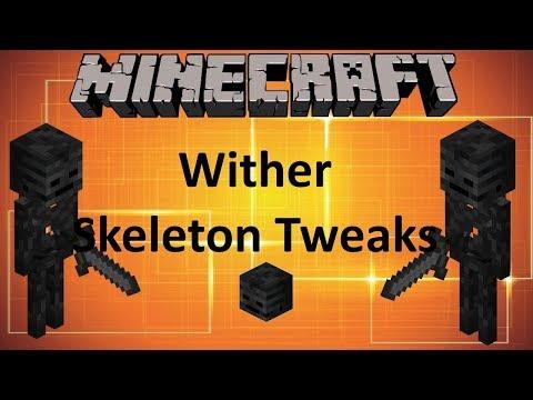 WITHER SKELETON TWEAKS - MINECRAFT 1.12.2 (MOD SHOWCASE)