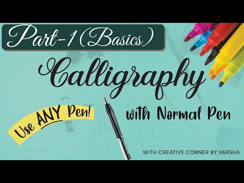 calligraphy with normal pen 2020 Part 1|How to do Faux Calligraphy for Beginners | Faux Calligraphy