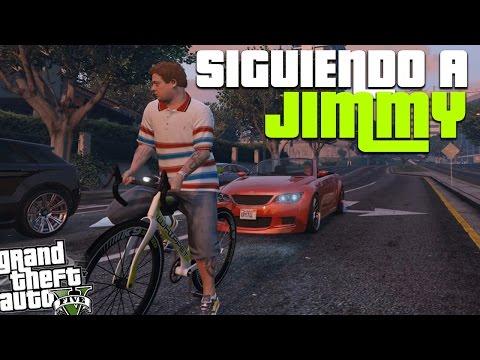 A donde va jimmy en bicicleta? Lo sigo en el carro de amanda y mira lo que michael dijo! | GTA V