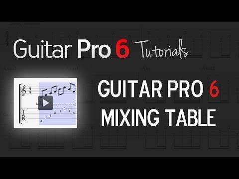 Chap. 4 – 2 Understanding the Mixing table's functionalities