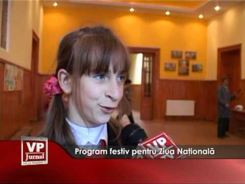 Program festiv pentru Ziua Naţională