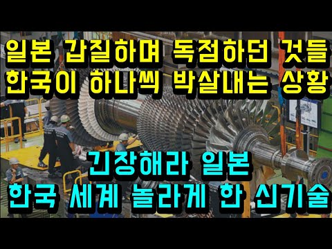 일본 갑질하며 독점하던 것들 한국이 하나씩 박살내는 상황