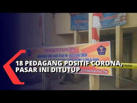 pedagang positif corona pasar balamoa ditutup
