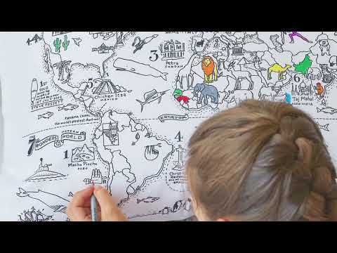 Youtube Video for World Map Pillowcase - Doodle Your Own!