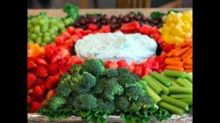 How To Make A Fruit And Veggie Tray