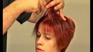 Смотреть онлайн Классическая женская стрижка для коротких волос
