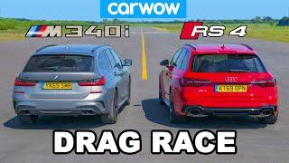 [carwow] BMW M340i v Audi RS4: DRAG RACE
