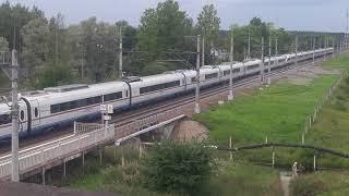 Сдвоенный скоростной поезд сапсан