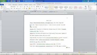 MLA Works Cited Page: Hanging Indent