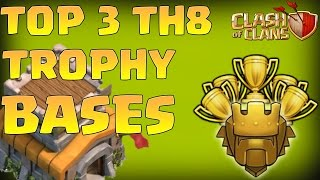Top 3 Town Hall 8 Trophy Base 2016 | CoC Th8 Best Trophy Pushing Layouts - Clash of Clans
