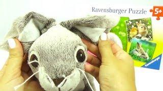 Детские пазлы и игрушки с кроликами. Игрушкин ТВ