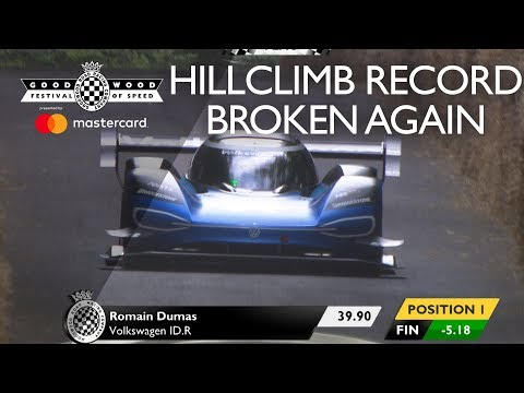 Volkswagen ID.R Smashes Goodwood hill record