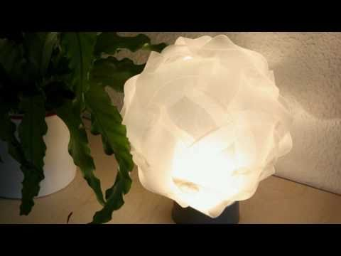 Polyester designer lamps cut with laser | laser cutting