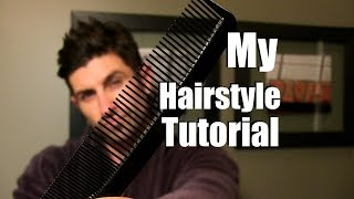 Alpha M Hairstyle Tutorial | Aaron Marinos Hairstyle | Mens Medium Length Hairstyle