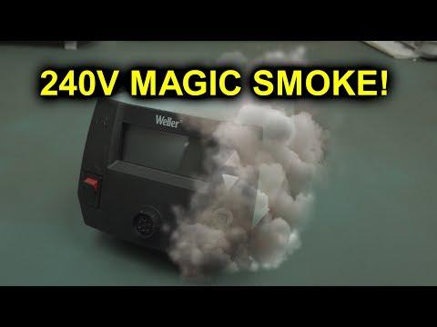 EEVblog #1152 - 240V-120V = Magic Smoke!