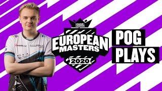 European Masters : les « Pog Plays » de la semaine