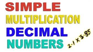 Multiplication of Decimal Number - Hindi (2016)