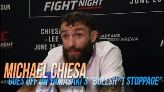 """Michael Chiesa goes off on """"bullsh*t stoppage"""" against Kevin Lee"""