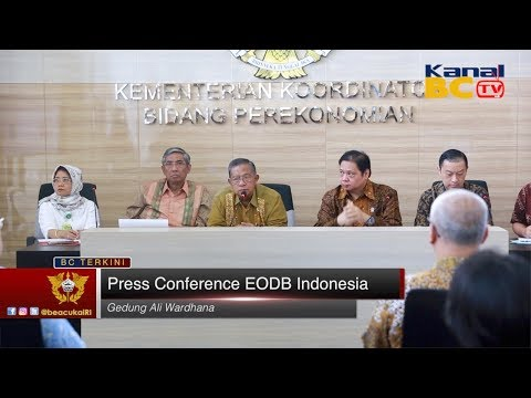 Press Conference EODB Indonesia