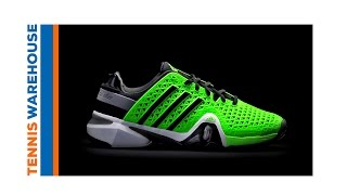 Adidas Barricade 8+ Men`s Tennis Shoes White video