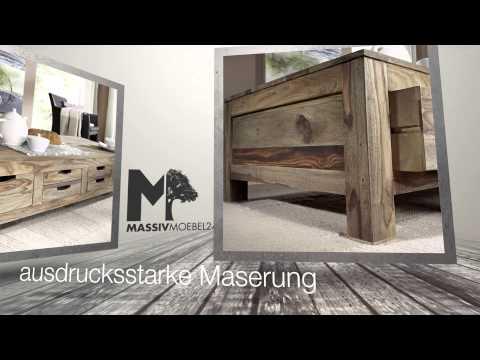 Couchtisch aus Sheesham / Palisander der Serie NATURE GREY von http://www.massivmoebel24.de