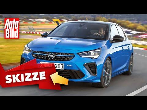 Opel Corsa-e OPC (2022) | So könnte der beliebte Opel als OPC-Version kommen | Skizze