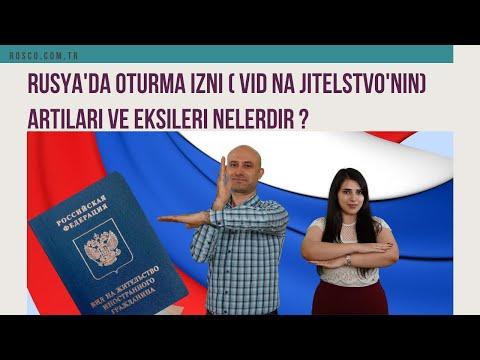 RUSYA'DA OTURMA İZNİ: ARTILAR-EKSİLER