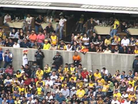 """PUMAS vs america 2010 asi canto la ReBel"" Barra: La Rebel • Club: Pumas"