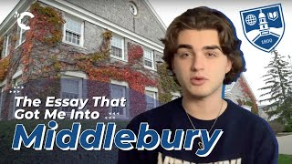 youtube video thumbnail - The Essay That Got Me Into Middlebury