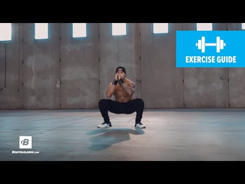 Wide-Stance Jump Squat To Close-Stance