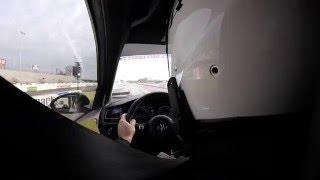 2016 MK7 VW Golf R (APR Stage 2) - 1/4 Mile Run - 12.091 sec. @ 111.36 MPH - Interior View