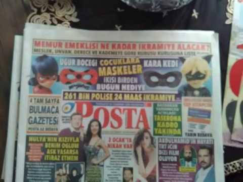 Bugün Posta Gazetesinde Mucize Uğur Böceği Ile Kara Kedi Boyama