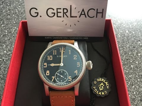 G Gerlach PM36 2 Vintage Style Locomotive Watch Review