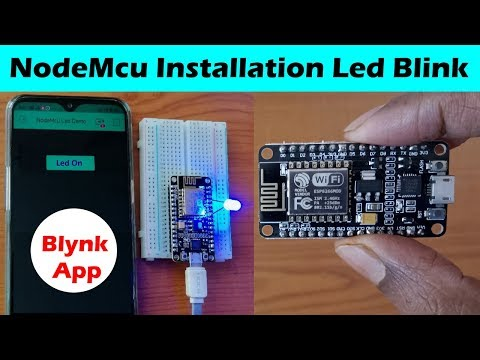 NodeMcu Installation & Review Demo Led Blinking with Mobile