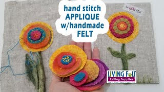 Hand Stitch Felt Applique: Felting + Freezer Paper + Hand Stitching