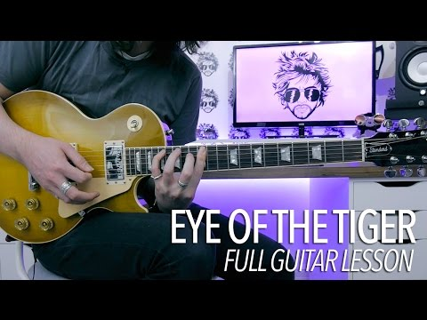 Eye Of The Tiger - Survivor (Full Electric Guitar Lesson)