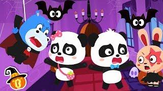 Baby Pandas Halloween Night | Halloween Cartoon | Halloween Makeup | Halloween Songs | BabyBus